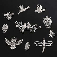 beadia antik sølv metal charm vedhæng dragonfly sommerfugl bi fugl&ugle DIY smykker vedhæng