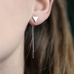 Mulheres Brincos Compridos Estilo simples Europeu bijuterias Liga Triangular Jóias Para Diário Casual