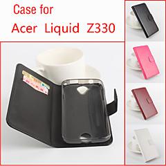 Για Θήκη Acer Θήκη καρτών / με βάση στήριξης / Ανοιγόμενη tok Πλήρης κάλυψη tok Μονόχρωμη Σκληρή Συνθετικό δέρμα για Acer