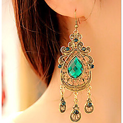 نساء أقراط قطرة عتيقة فيكتوريا موضة أوروبي والمجوهرات الأحجار الكريمة سبيكة قطرة مجوهرات من أجل