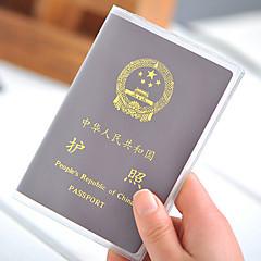 1 piesă Geantă Pașaport & ID Husă Pasaport Impermeabil Rezistent la Praf Ultra Ușor (UL) Portabil pentru Depozitare Călătorie PVC