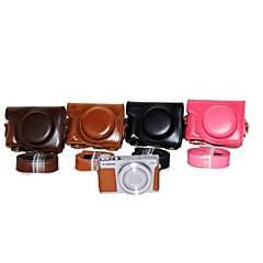 캐논 파워 샷 G9 x에 대한 어깨 끈 (모듬 색상)으로 dengpin® PU 가죽 카메라 케이스 가방 커버