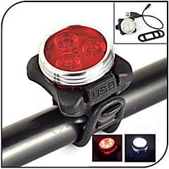 Światła rowerowe LED 240 lumens Lumenów 4.0 Tryb - Tak Akumulator Wodoodporne Night Vision na Kolarstwo White Czerwony