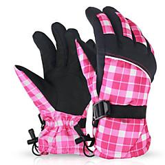 여성의 장갑 레저 스포츠 보온 / 착용 가능한 / 공전방지 봄 / 가을 / 겨울 핑크 / 그레이-스포츠-프리 사이즈