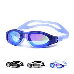 Úszás Goggles Uniszex Vízálló Szilícium-dioxid gél PC Fehér / Fekete / Kék Zöld / Fekete / Kék / Arany / Ezüst