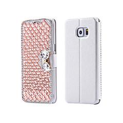 luxe bling kristal& diamant pu lederen flip tas voor Samsung Galaxy S3 / S4 / S5 / s6 / s6e / S7 / s6e plus