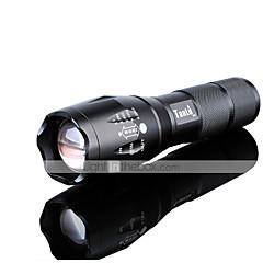 LED zseblámpák LED 3000 Lumen 5 Mód Cree XM-L2 18650 AAA Állítható fókusz Ütésálló Csúszásgátló markolat Újratölthető Vízálló Kompakt