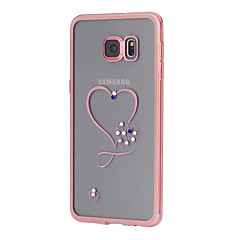 hart ontwerp galvaniseren TPU soft diamant Case voor Samsung Galaxy S7 / S7 edge / s6 / s6 edge / s6 rand plus (verschillende kleuren)