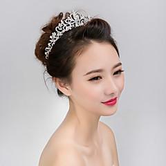 웨딩 파티 여성의 왕관 머리 보석