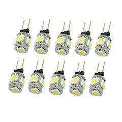 10x g4 gz4 mr11 1,5w 5 led 5050 blauw / rood / warm wit / groen / geel / wit geleid binnenverlichting lamp dc12v