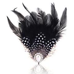 Γυναικεία Μαργαριτάρι Φτερό Φτερό Μαύρο/Άσπρο Κοσμήματα Γάμου Πάρτι Causal