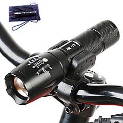 LED zseblámpák LED 3000 Lumen 5 Mód Cree T6 18650 AAA Állítható fókusz Ütésálló Csúszásgátló markolat Újratölthető Vízálló High Power