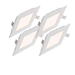 6W Panellamper 30pcs SMD 2835 500-550lm lm Varm hvid Kold hvid Naturlig hvid Dekorativ Vekselstrøm 85-265 V 4 stk.