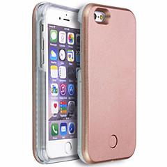 For iPhone 6 etui iPhone 6 Plus etui Etuier LED Bagcover Etui Helfarve Hårdt PC for iPhone 6s Plus iPhone 6 Plus iPhone 6s iPhone 6