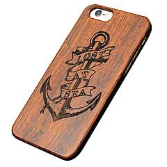 Na Etui iPhone 5 Etui Pokrowce Wzór Wytłaczany wzór Etui na tył Kılıf Kotwica Twarde Drewno na AppleiPhone 7 Plus iPhone 7 iPhone 6s Plus