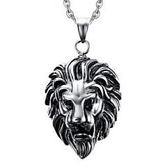 Herre Halskædevedhæng Vedhæng Dyreformet Løve Titanium Stål Personaliseret Punk Stil kostume smykker Smykker Til Fest Daglig Afslappet