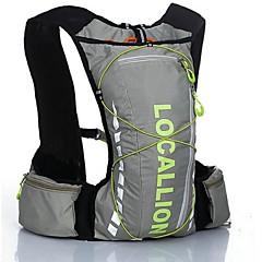 Cykling rygsæk rygsæk for Fritidssport Rejse Løb Sportstaske Reflekterende Stribe Påførelig Multifunktionel Herunder vand Blære Løbetaske