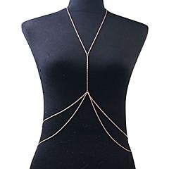 Pentru femei Bijuterii de corp Lanț de Talie Colier ham Corp lanț / burtă lanț Bikini European Incrucisarea Strat dublu Sexy costum de