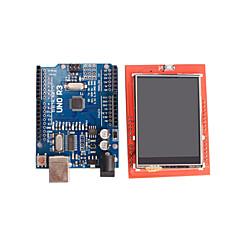 parannettu versio uno r3 atmega328p board + 2,4 tuuman TFT LCD-kosketusnäyttö kilpi näyttö moduuli arduino
