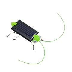 Lovely Mini Solar Energy Powered Child Kid Toy Locust Solar Grasshopper Insect Bug