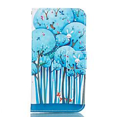 Samsung Galaxy a3 a5 2017 kék fa bőr pénztárca Samsung Galaxy a5 a7 a3 a5 a7 2016 2017
