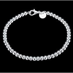 Kadın's Zincir & Halka Bileklikler Tılsım Bileklikler geçit Boncuklar Klasik kostüm takısı Som Gümüş Circle Shape Mücevher Mücevher