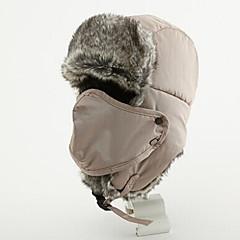 털/모피 모자 귀덮개 모자 스키 페이스 마스크 모자 여성용 남성용 보온 스노우보드 폴리에스터 스키 캠핑 & 하이킹 스노우스포츠 다운힐 겨울