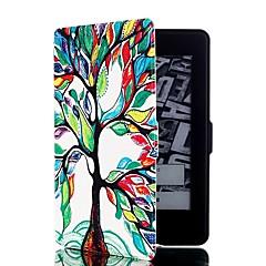 árvore padrão de couro colorido caso de corpo inteiro com slot para cartão de suporte e para amazon kindle paperwhite / paperwhite Kindle
