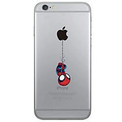 Para iPhone X iPhone 8 iPhone 6 iPhone 6 Plus Case Tampa Transparente Capa Traseira Capinha Brincadeira Com Logo da Apple Macia PUT para
