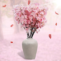 1 Κλαδί Πολυεστέρας Άνθος Κερασιάς Λουλούδι για Τραπέζι Ψεύτικα λουλούδια 110