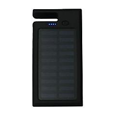 12000mAhΤράπεζα ισχύς εξωτερική μπαταρία Ηλιακή φόρτιση / Πολλαπλοί έξοδοι / Φακός / Περιλαμβάνει βάση 12000Output 1:5V 1000mA Output