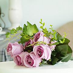 1 1 Κλαδί Μετάξι Τριαντάφυλλα Λουλούδι για Τραπέζι Ψεύτικα λουλούδια 45CM