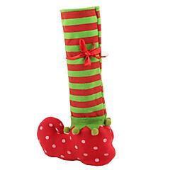 크리스마스 레드 와인 병 커버 가방 크리스마스 선물 가방 저녁 식사 테이블 장식 홈 파티 크리스마스 실내 장식 스타킹