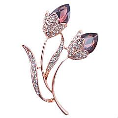 γυναικών κράμα μόδας / rhinestone / καρφίτσες κρύσταλλο λουλούδι καρφίτσα κόμμα / καθημερινή / περιστασιακή κοσμήματα 1pc αξεσουάρ