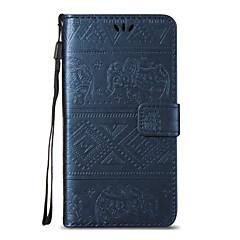 Til huawei p8 lite p9 litefull krop elefant præget læder tegnebog