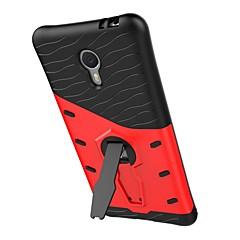 Til meizu m3 note rustning mønster med stand plating bagcover case hard pc