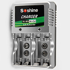Încărcător De Baterii SoShine AA/AAA/9V Ni-MH/Ni-Cd