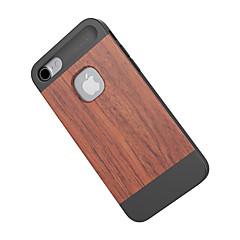 Voor Schokbestendig hoesje Achterkantje hoesje Houtnerf Hard Bamboe voor Apple iPhone 7