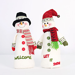 2PC 접을 수있는 뜨거운 판매 크리스마스 장식 산타 클로스 눈사람 크리스마스 인형