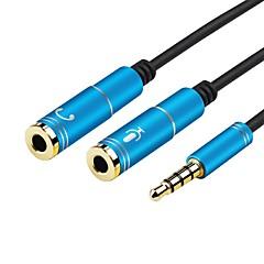 3.5mm jak stereo kulaklık mikrofon ses 1 erkek pc dizüstü telefon tablet (0.28M'lik 0.9ft) için kadın y splitter kablosu adaptö 2