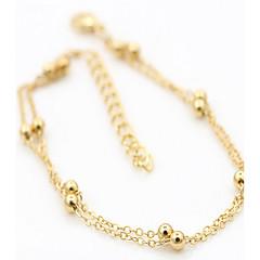 naisten kulta hopeaseos nilkkakoruissa 2pc