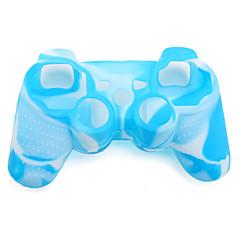 beschermende dual-color siliconen case voor de PS3-controller (blauw en wit)
