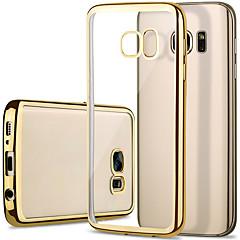 Mert Samsung Galaxy S7 Edge Galvanizálás / Átlátszó Case Hátlap Case Egyszínű TPU Samsung S7 edge / S7 / S6 edge / S6