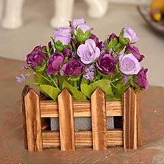 1 1 Κλαδί Πλαστικό / Others Τριαντάφυλλα / Φυτά / Others Λουλούδι για Τραπέζι Ψεύτικα λουλούδια