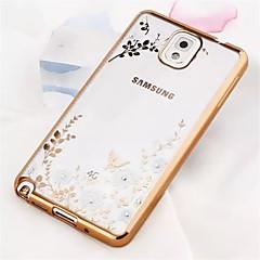 Varten Samsung Galaxy Note Pinnoitus / Läpinäkyvä / Kuvio Etui Takakuori Etui Kukka TPU Samsung Note 5 / Note 4 / Note 3