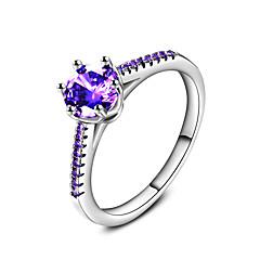Gyűrűk Esküvő Parti Különleges alkalom Napi Hétköznapi Ékszerek Cirkonium Karikagyűrűk Gyűrű Eljegyzési gyűrű 1db,6 7 8 9 10 Bíbor