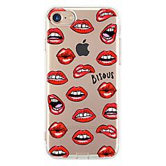 Voor iPhone X iPhone 8 iPhone 7 iPhone 7 Plus iPhone 6 Hoesje cover Ultradun Patroon Achterkantje hoesje Sexy dame Zacht TPU voor Apple