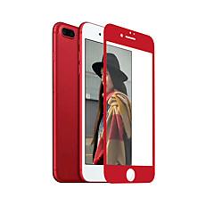 zxd china rød blød kant til iphone 6s plus / 6 plus skærmbeskyttelse 3d fuld dækning hærdet glas sømløs dækker anti glare