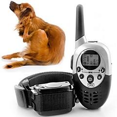 Katte Hunde Træningshalsbånd til hunde Justérbar/Udtrækkelig Elektronisk/Elektrisk Træning Vibrering Fjernbetjening Solid Sort Plastik