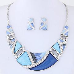 Mulheres Conjunto de Jóias bijuterias Moda Euramerican Liga Forma Geométrica 1 Colar 1 Par de Brincos Para Festa Diário Presentes de